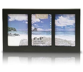Amazoncom Klikel Photo Collage Frame Black Wooden Wall Frame