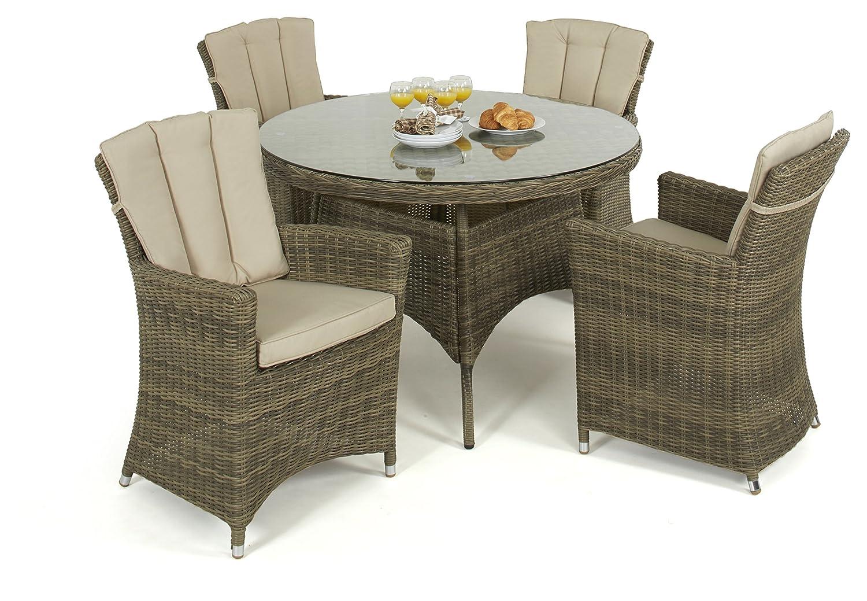 maze rattan winchester 4 sitz rund esstisch mit carver. Black Bedroom Furniture Sets. Home Design Ideas