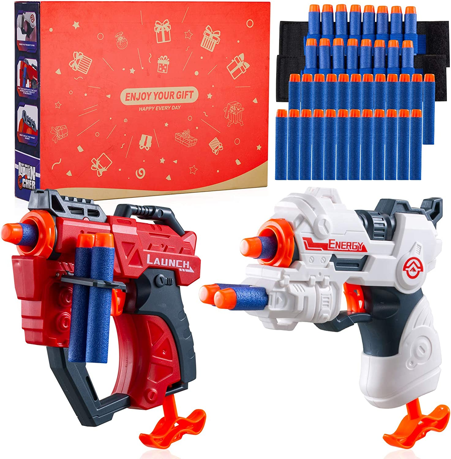 50% Off Coupon – Toy Foam Blasters Gun With 40 Soft Foam Darts and Wrist Bands