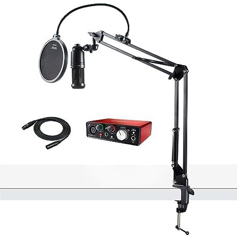 Amazon.com: Audio Technica AT2020 - Micrófono con interfaz ...