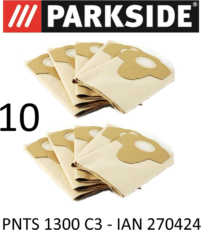 10 bolsas de aspiradora Parkside 20 L pnts 1300 C3 Lidl Ian 270424 ...