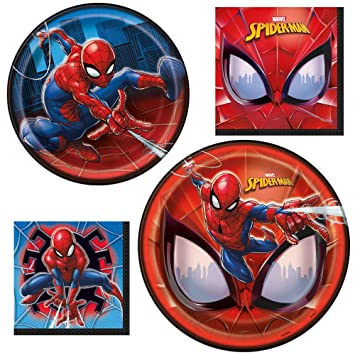 Amazon.com: Juego de vajilla Spiderman con licencia oficial ...