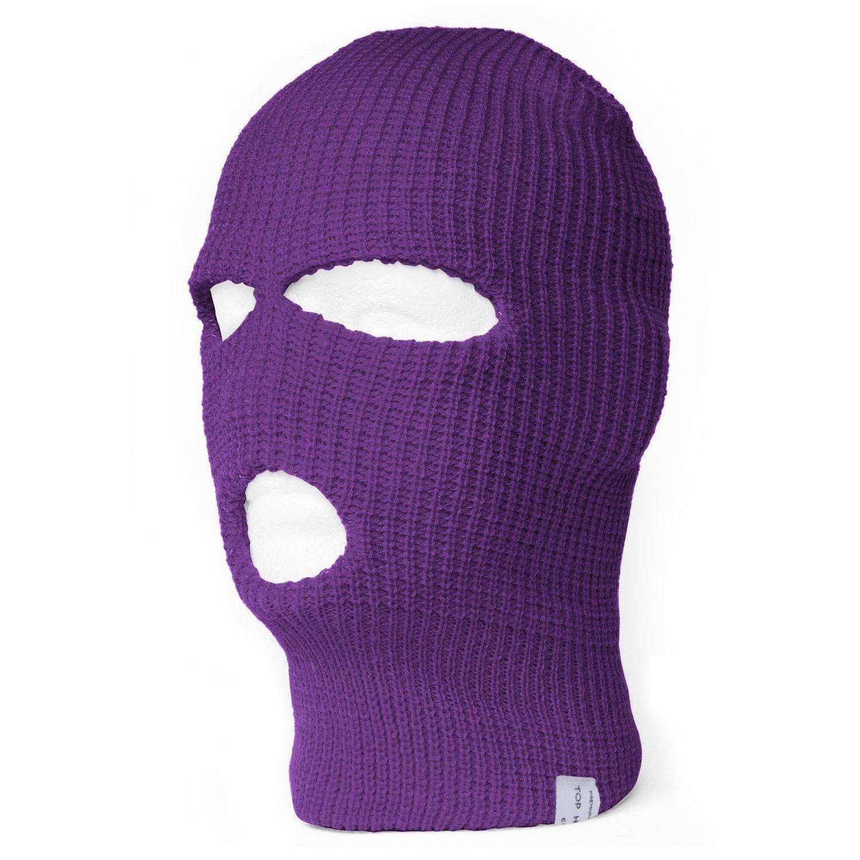 TopHeadwear 3-Hole Ski Face Mask Balaclava, Purple TOP HEADWEAR