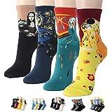 Womens Best Socks Gift Set-Cute Animals Art Cartoon Character Funny Novelty Crew (Art