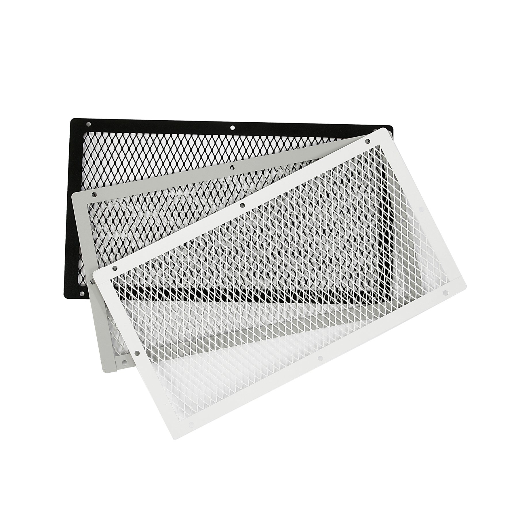 HY-C VG1018G-1W Galvanized Steel Foundation VentGuard with White Wildlife Exclusion Screen, 10'' x 0.25'' x 18''