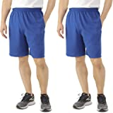 4b596179927 Fruit of the Loom 2 Pack Tagless Mens Shorts with Pockets 9 inch Inseam  Athletic Cotton