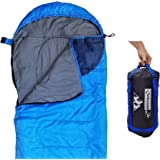 Sleeping Bag (47F/38F) Lightweight for Camping Backpacking Travel by OutdoorsmanLab- Kids Men Women 3-4 Season Ultralight Compact Packable Bags with Compression Sack