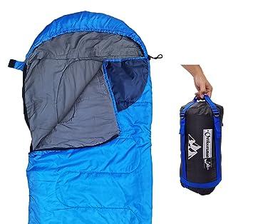 Saco de dormir ligero para campamentos, mochilear, para niños, hombres y