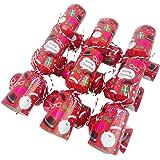 Paquet de 6 - Fun Family Petite fête de Noël Crackers Face Xmas Photo Props