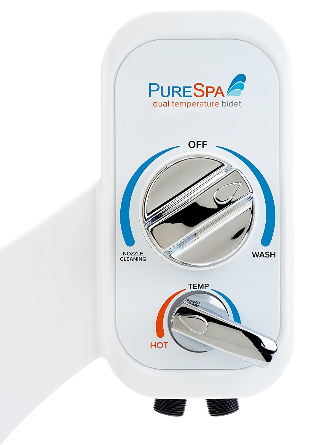 a8152013ab Brondell PSW-75 PureSpa Dual Warm Water Non-Electric Bidet Attachment with  Self-Cleaning Nozzles