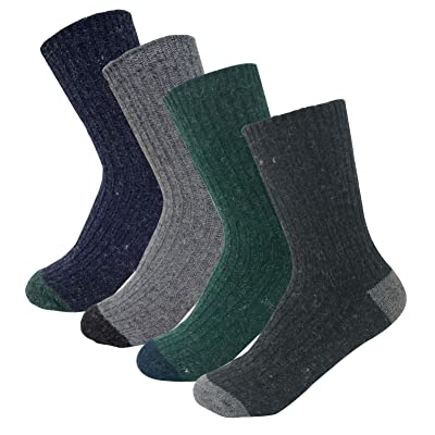 4Pack Women's Winter Comfort Casual Boot Angora/Wool Knit Socks