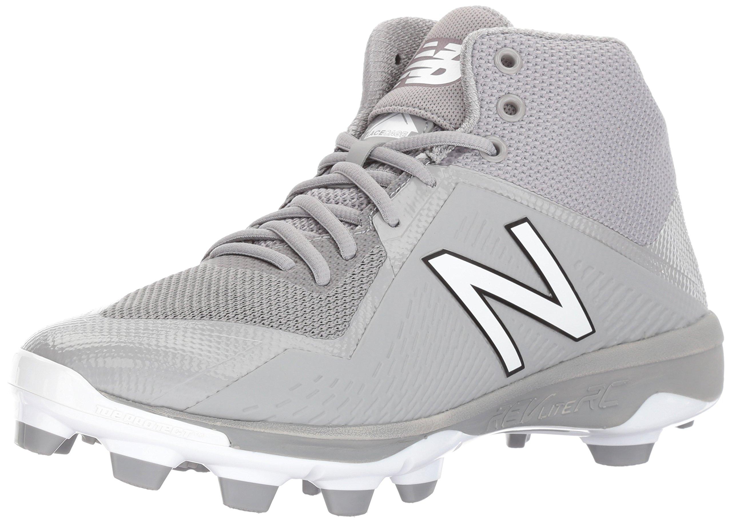New Balance Men's PM4040v4 Molded Baseball Shoe, Grey, 15 D US