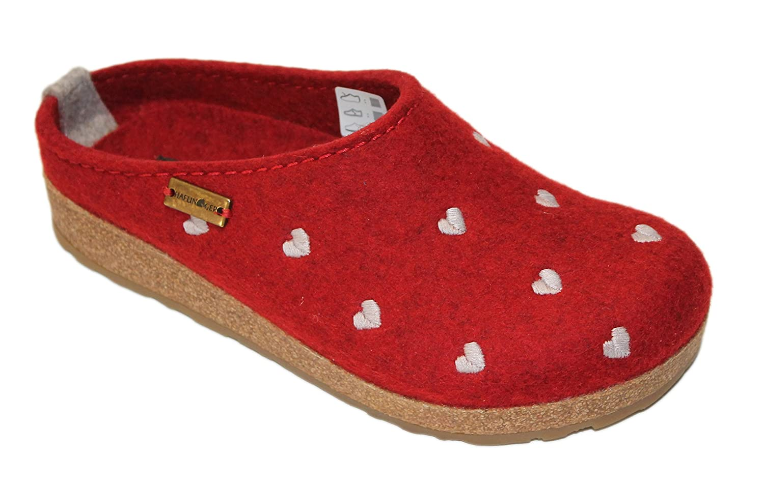 42 Haflinger Womens Grizzly Cuoricino Red