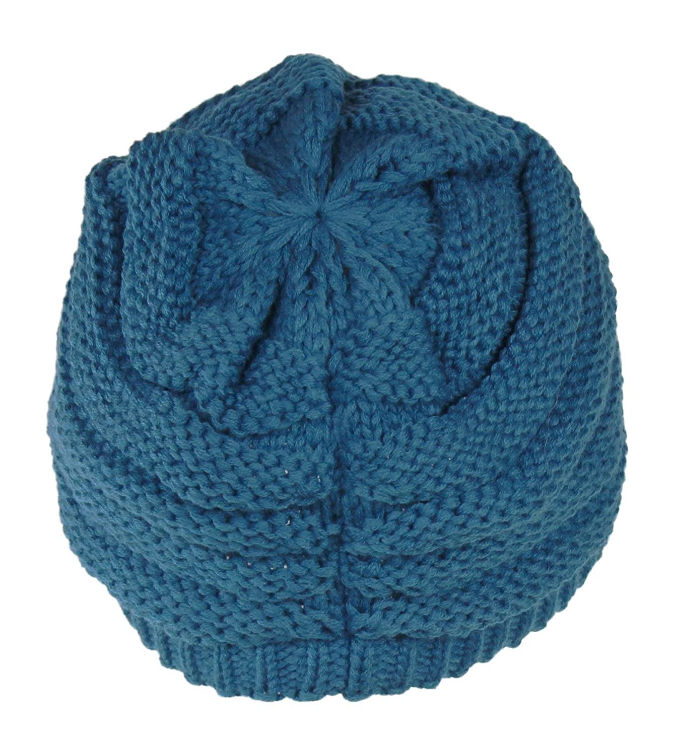 f2d795a3302 Warm Cable Ribbed Knit Beanie Hat w   Visor Brim – Chunky Winter ...