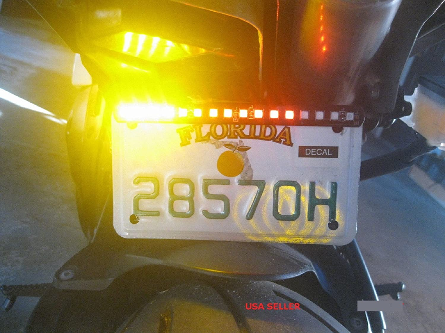 New SMD 5050 LED Turn Signal Brake Light and Running Tail Light for Car Motorcycle License Plate. KINGSHOW