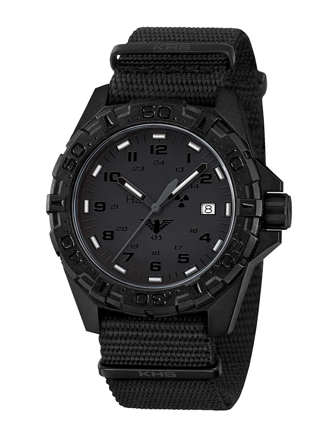 KHS Tactical Watches Reaper XTAC MilitÄr Armbanduhr Nato black KHS.REXT.NB