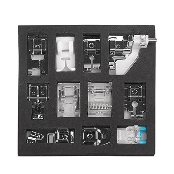 Kit de prensatelas para máquina de coser, piezas de repuesto y accesorios para máquinas Brother o Singer (Set de 11 Piezas): Amazon.es: Hogar