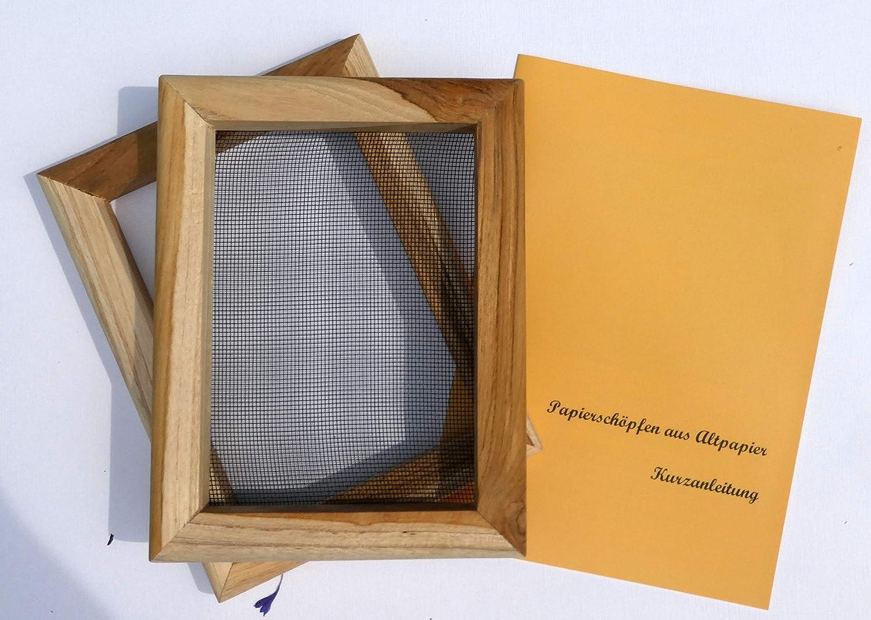 Anleitung tribal paper bhutanpaperarts Papiersch/öpfrahmen A5+ Traditionswerkzeug auch f/ür Kinder//Incl
