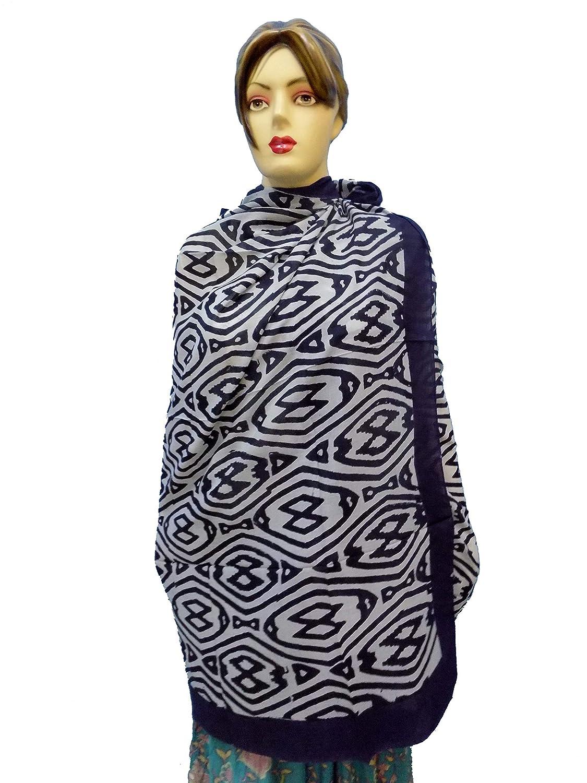 Panchal world Indian Summer Sarong Beach Hand Block Cotton Floral Dress Wear//Dupatta//Muffler//Stole//Scarf//Neck Wrap//Beach Towel Swimsuit//Bikini Swimwear Cover pw-50
