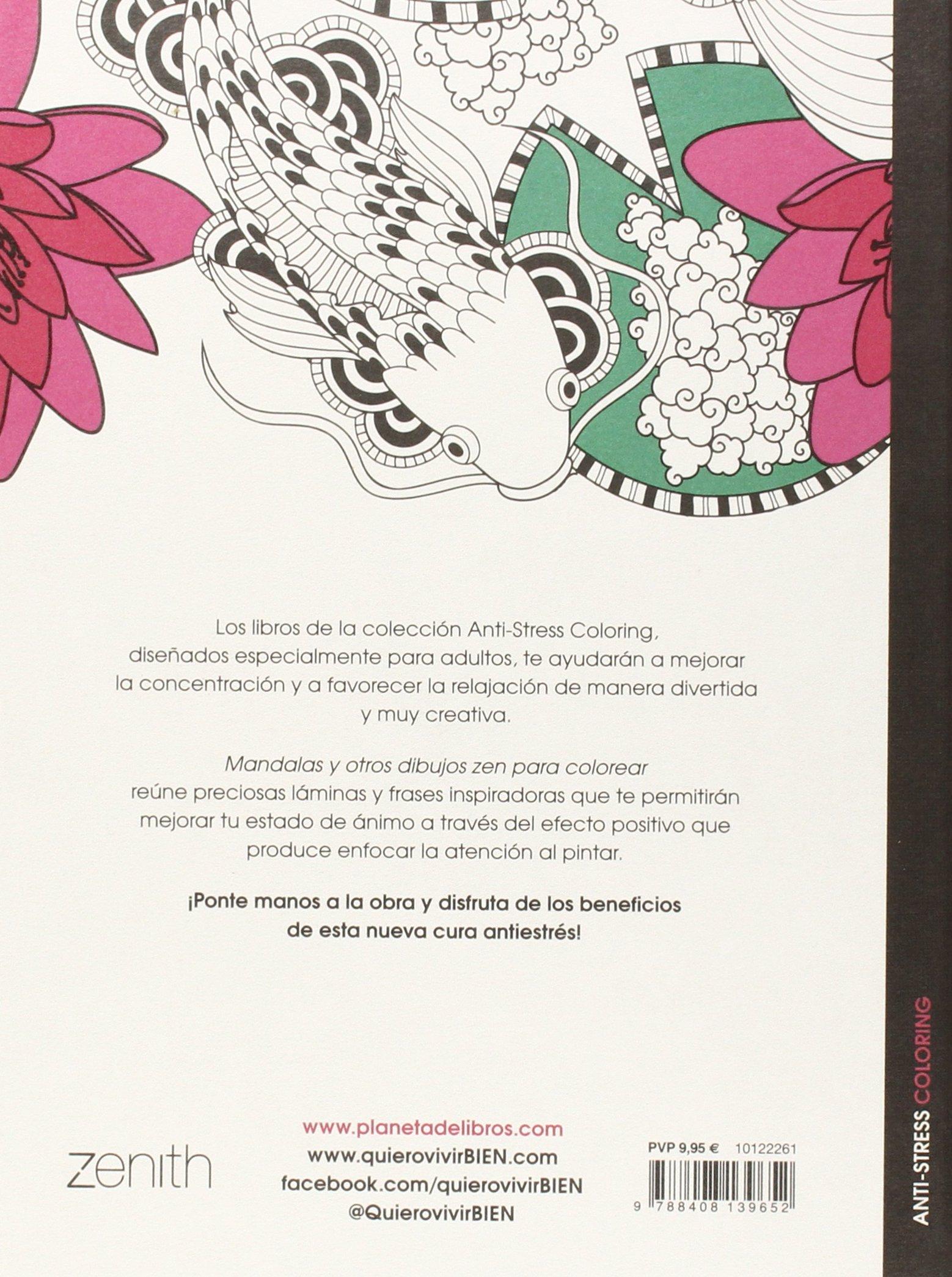 Mandalas y otros dibujos zen para colorear Anti-stress coloring ...