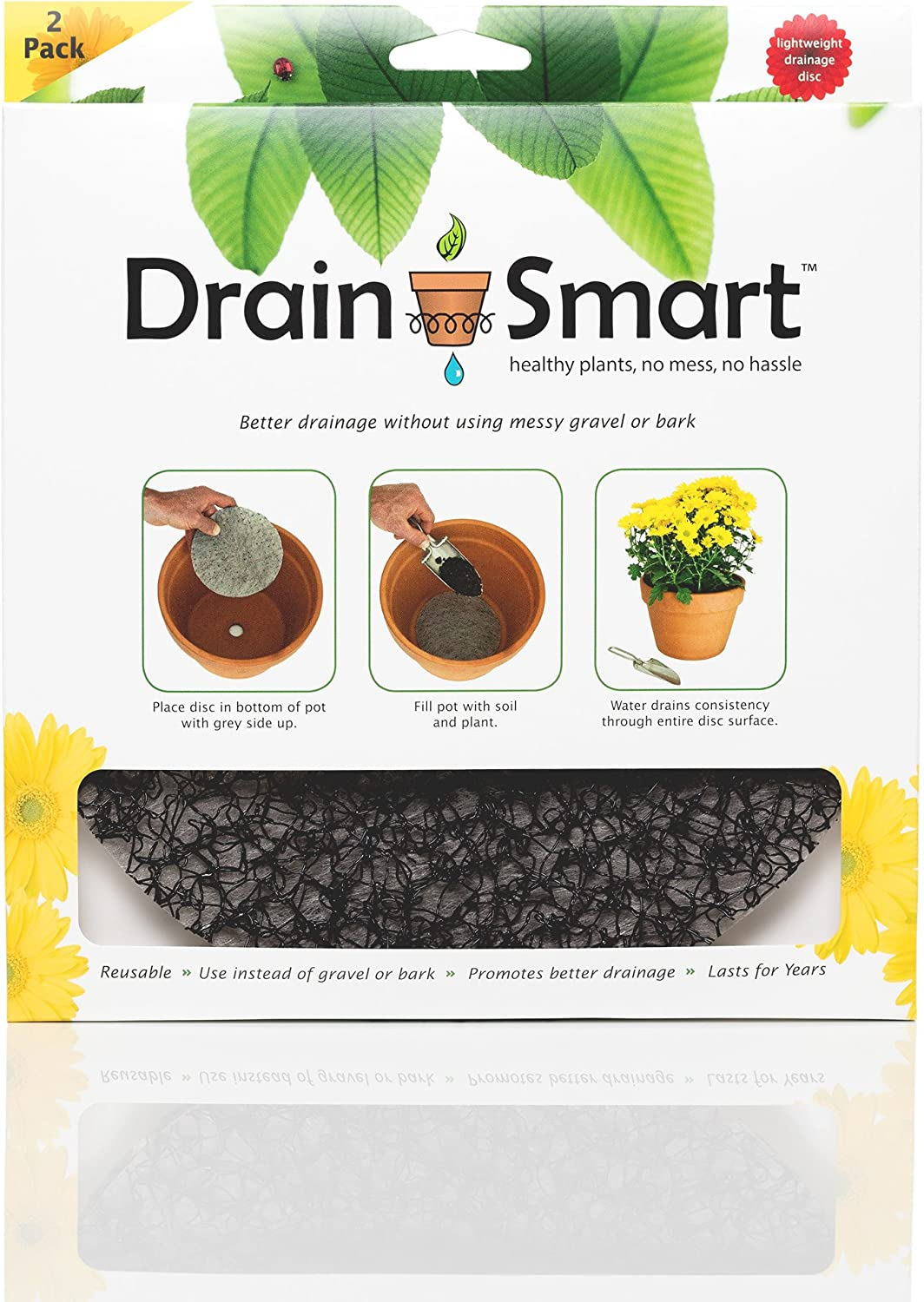 Amazon Com Drain Smart 9 2 Pack Drainage Discs Perfect For