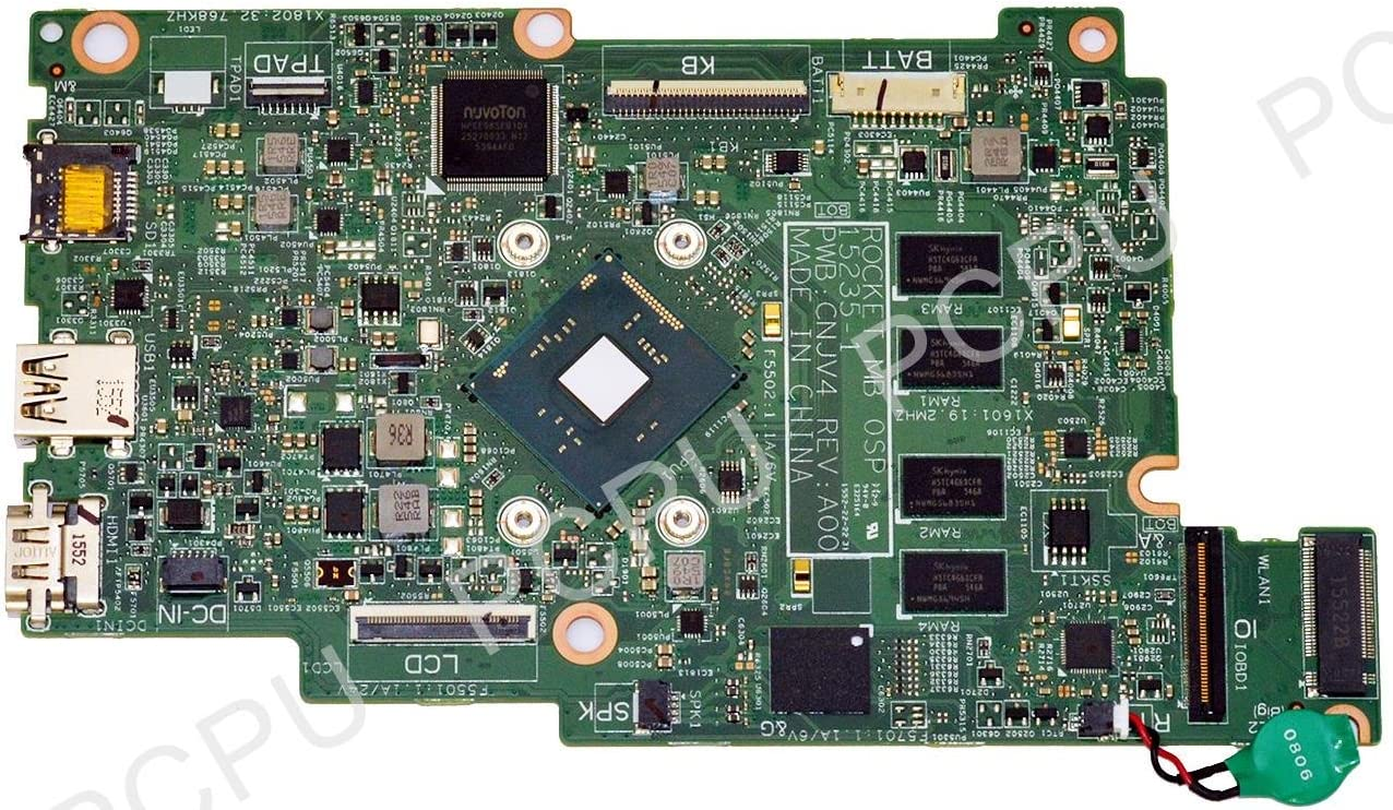 Dell Inspiron 3162 Laptop Motherboard 4GB w// Celeron N3050 1.6Ghz CPU 2YV73