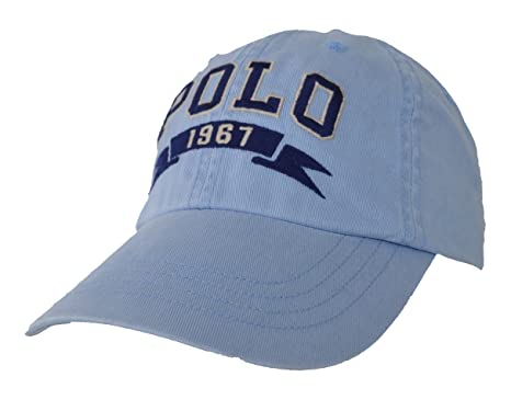56fae82b242cbf Ralph Lauren Baseball Cap Polo 1967 Hellblau Washed One Size: Amazon ...