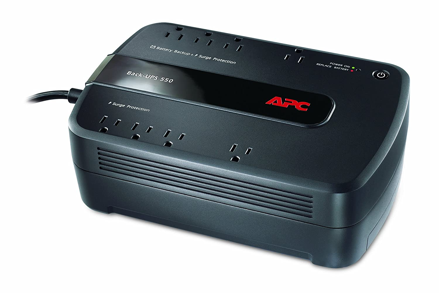 Apc Ups Battery Backup Surge Protector 550va Electronic Appliance Back Be550g Home Audio Theater