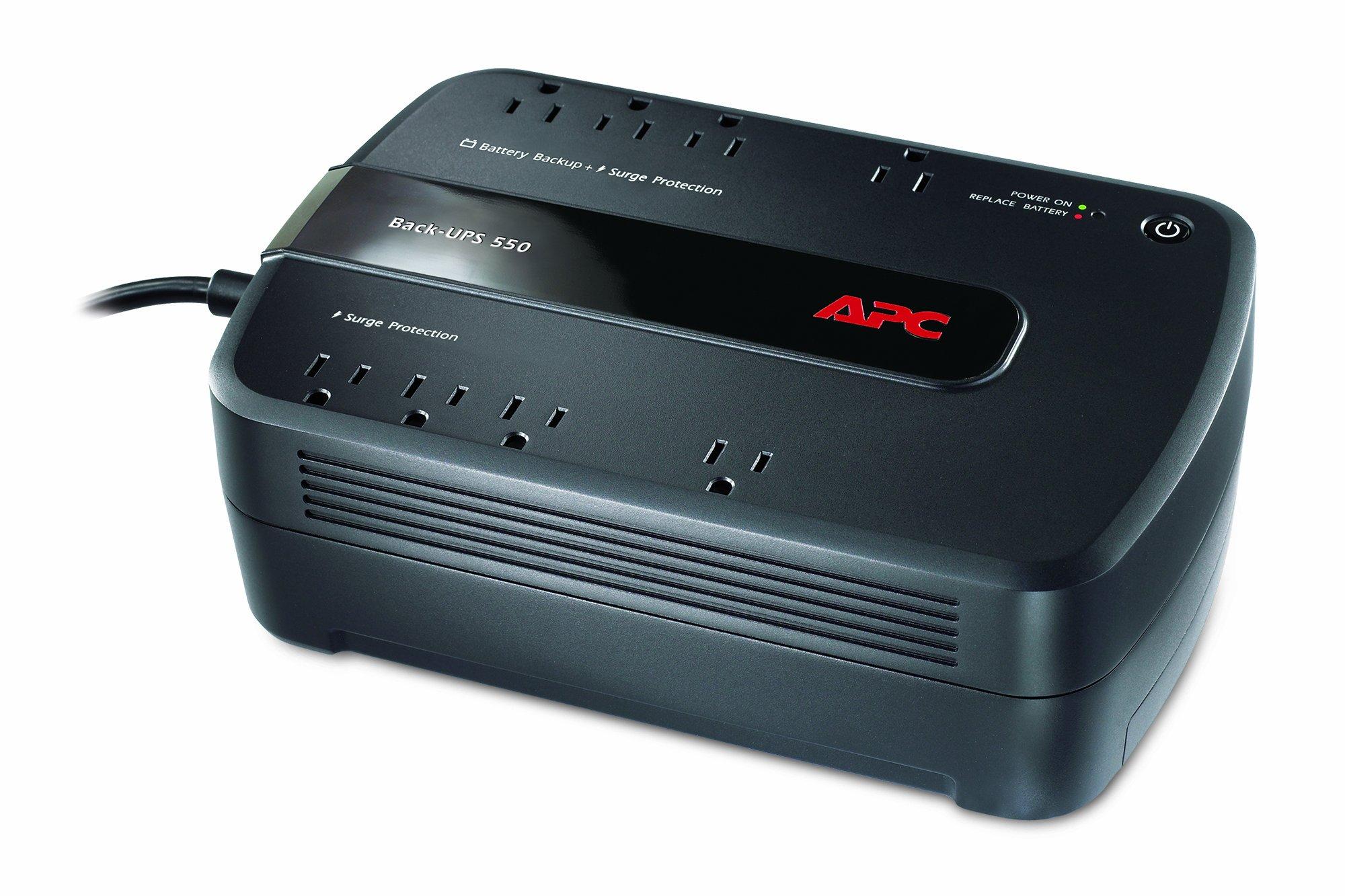 APC Back-UPS 550VA UPS Battery Backup & Surge Protector (BE550G) by APC