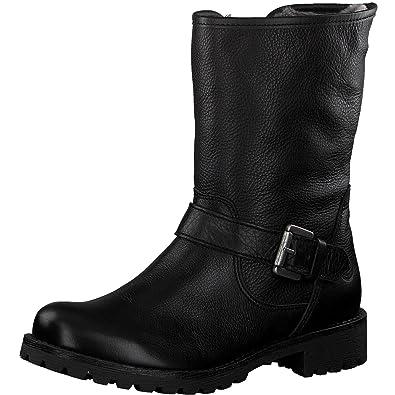Tamaris Damen Biker Boots 26991 21,Frauen Stiefel,Stiefelette,Halbstiefel,Bikerstiefelette,Bootie,gefüttert,Winterstiefelette,Blockabsatz 3cm