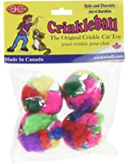 Cancor Innovations Mini Crinkle Ball Cat Toy (4 Pack)