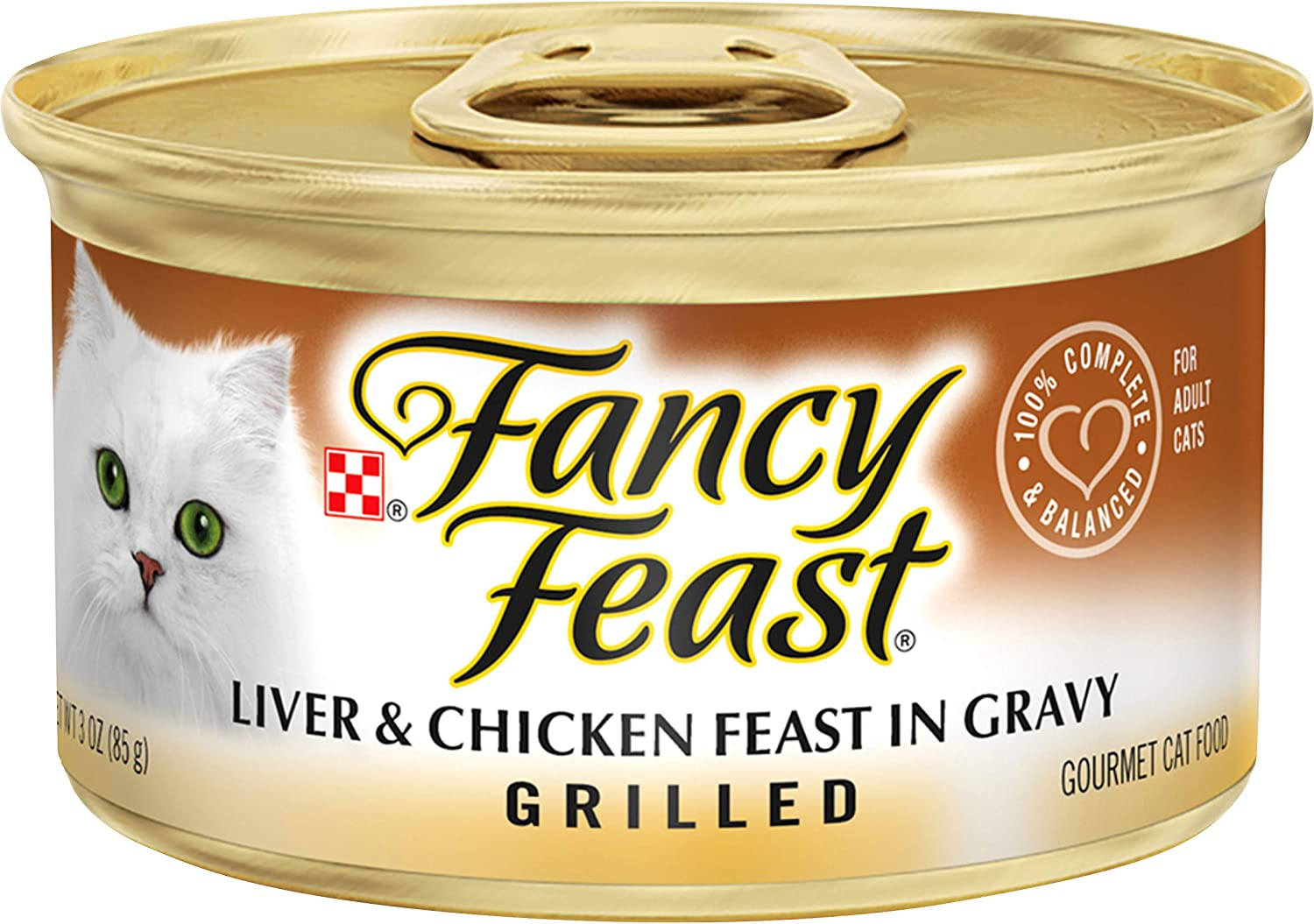 Purina Fancy Feast Gravy Wet Cat Food, Grilled Liver & Chicken Feast - (24) 3 oz. Cans