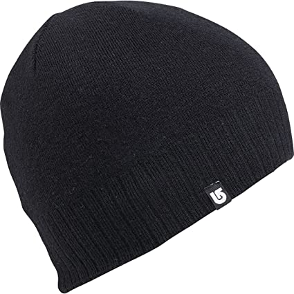 72b50aa45 Amazon.com: Burton Wool Liner Beanie True Black, One Size: Automotive