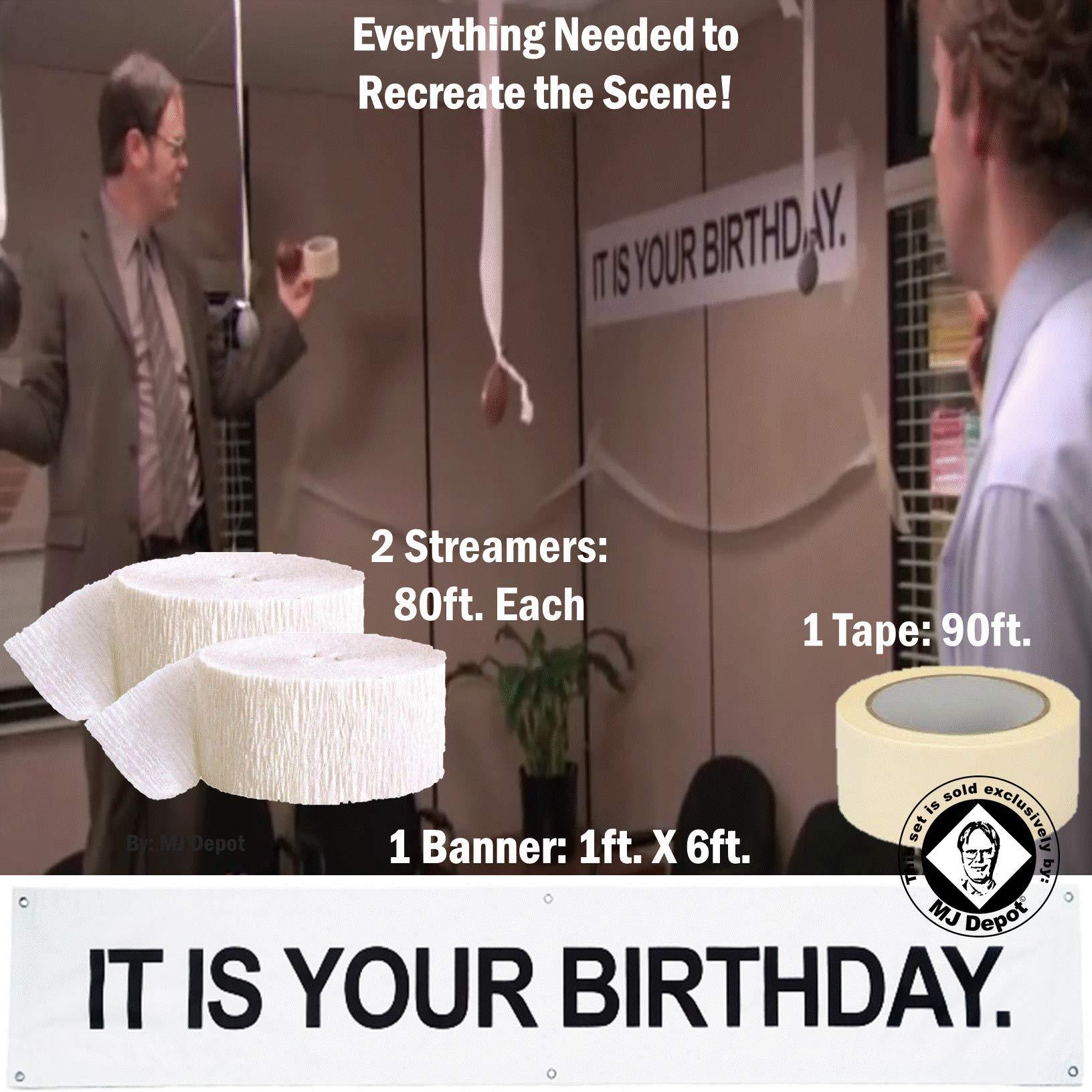 It Is Your Birthday.It Is Your Birthday Banner 40 Pc Set Vinyl Banner 36 12