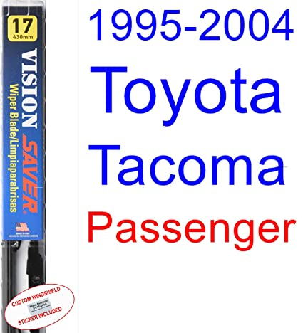 Amazon.com: 1995-2004 Toyota Tacoma Wiper Blade (Passenger) (Saver Automotive Products-Vision Saver) (1996,1997,1998,1999,2000,2001,2002,2003): Automotive
