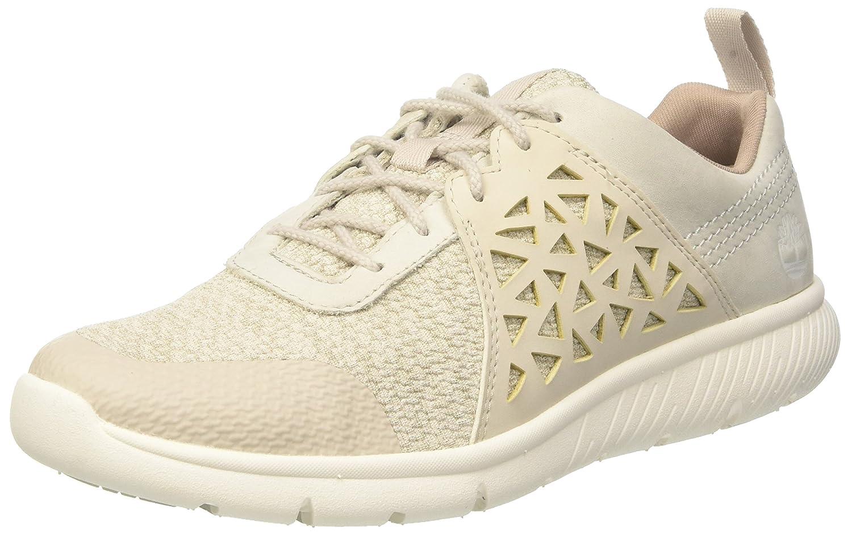 Timberland Boltero, Zapatos de Cordones Oxford para Mujer, Blanco (Rainy Day Nubuck F48), 36 EU