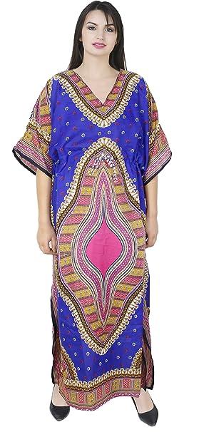 SKAVIJ Mujers Suave Playa Cubrir Arriba Dashiki Short Kaftan baños Suit Maxi Vestir: Amazon.es: Ropa y accesorios