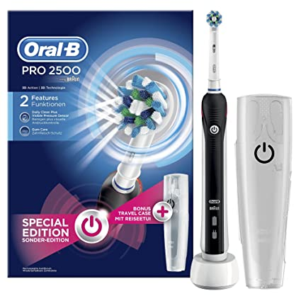 Oral-B PRO 2500 CrossAction Cepillo de Dientes Eléctrico Recargable Pack  Regalo 52b42cc5816c