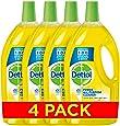 Dettol Power All Purpose Cleaner - Lemon, Pack of 4 Pcs (4 x 900ml)