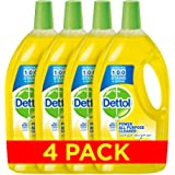 Dettol Power All Purpose Cleaner - Lemon, Pack of 4 Pcs (4 x 900ml)