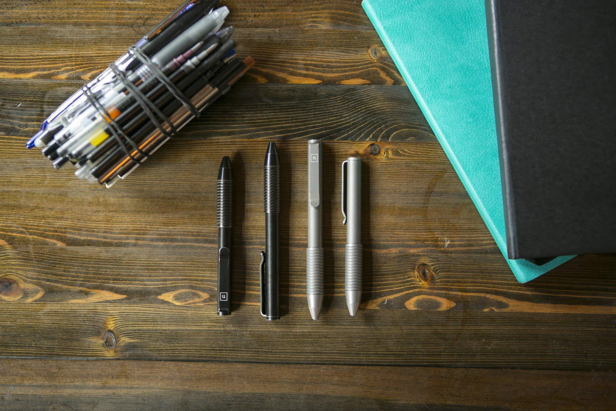 BIG IDEA DESIGN Ti Pocket Pro : The Auto Adjusting EDC Pen - Antique Black by BIG IDEA DESIGN (Image #1)