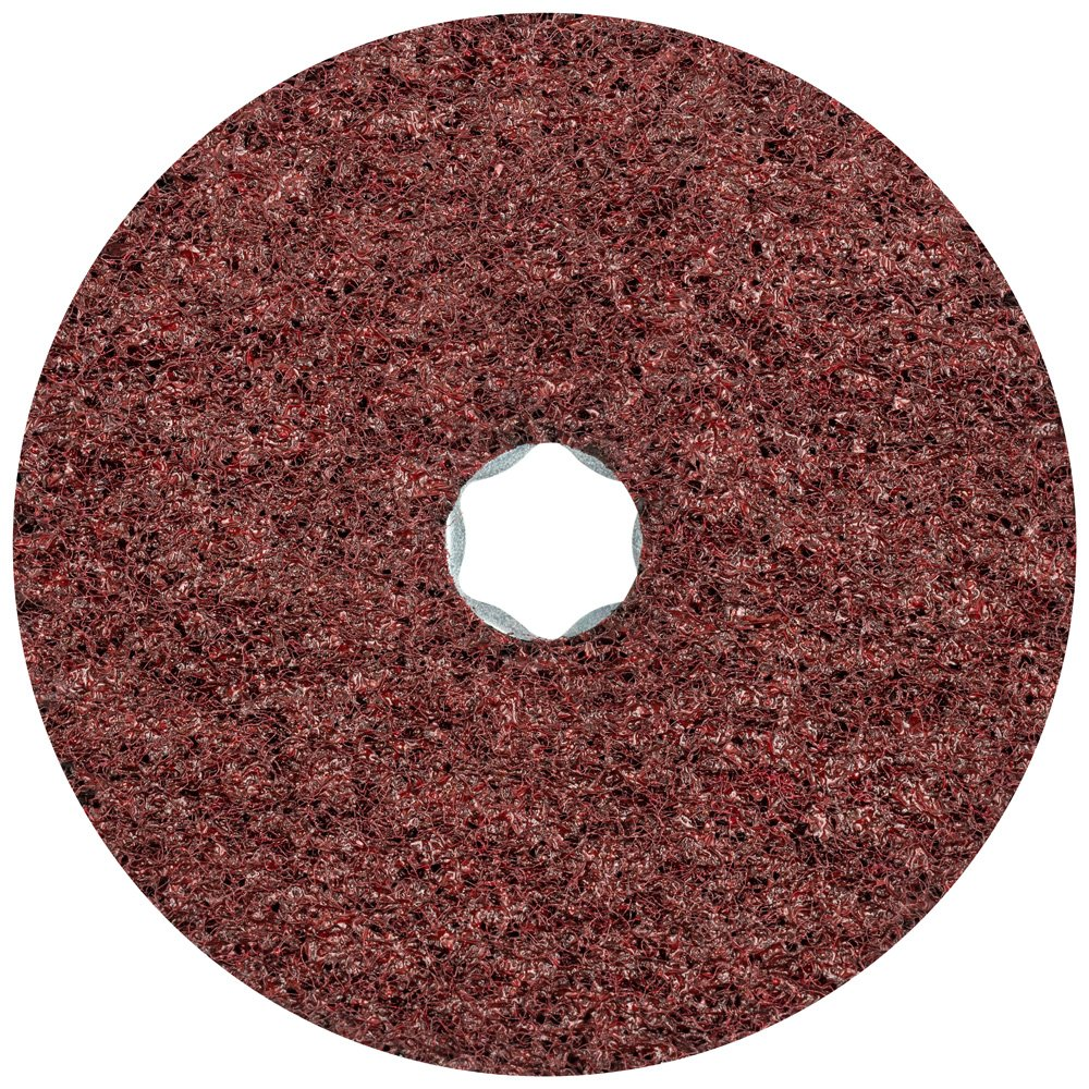PFERD 48111 Combiclick Non-Woven Disc, Hard Type, 5'' Diameter, 9,650 RPM, Medium Grit (Pack of 10)