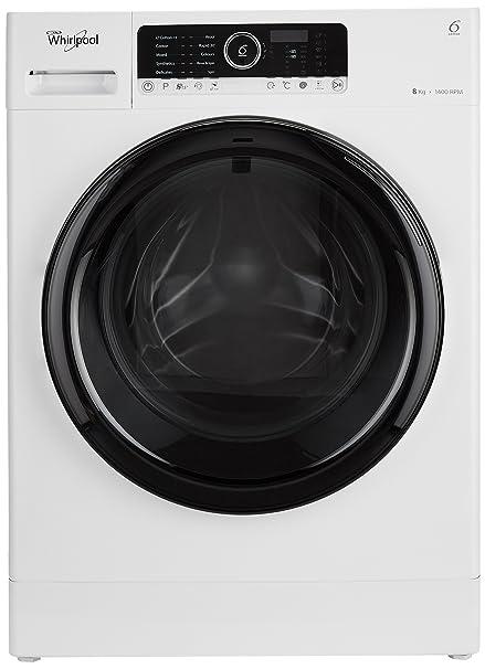 Whirlpool 8 kg Inverter Fully-Automatic Front Loading Washing Machine (Supreme Care, White, Inbuilt Heater) Washing Machines & Dryers at amazon