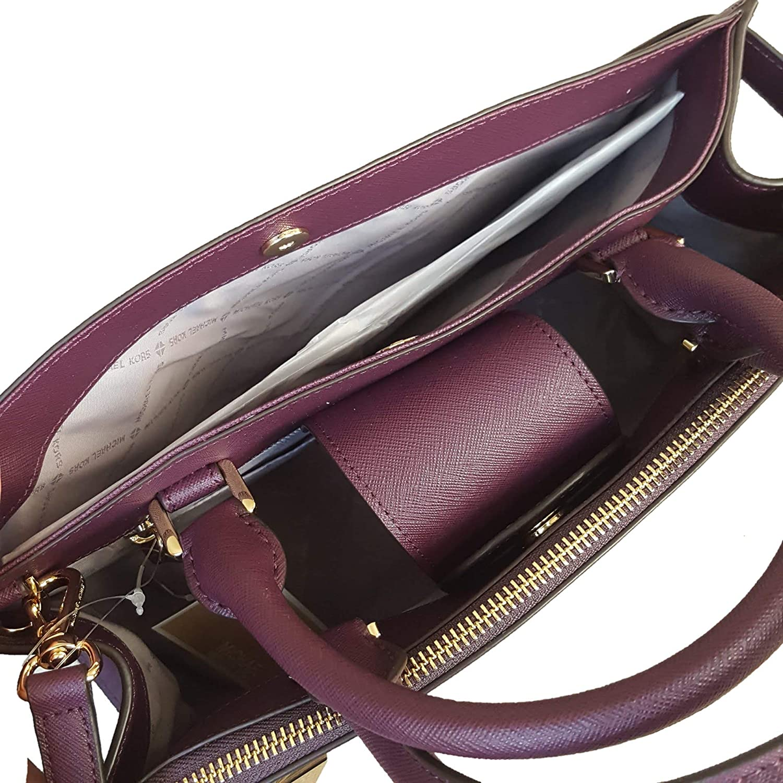 MICHAEL Michael Kors MD medium Karla satchel damson bag purse messenger  crossbody handbag MK  Handbags  Amazon.com 4606131ad5563