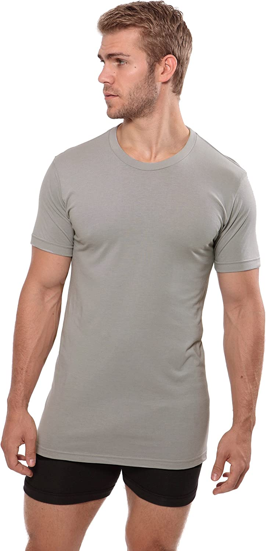 Dexx, Light Gray, LT Great Gifts for Him Texere Crew Neck Undershirt for Men