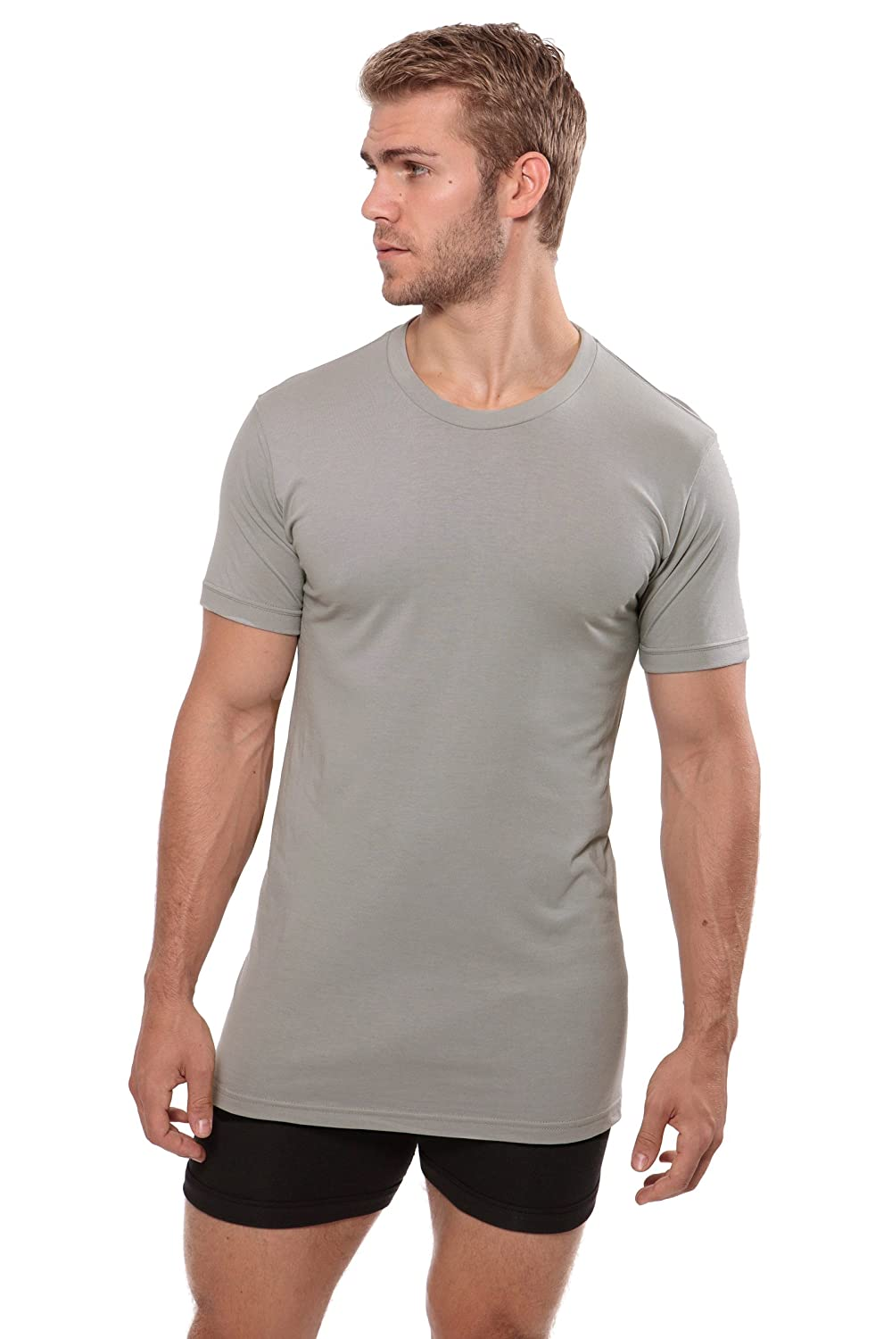 MB6001 Texere Crew Neck Undershirt for Men Dexx Luxury Shirt in Bamboo Viscose