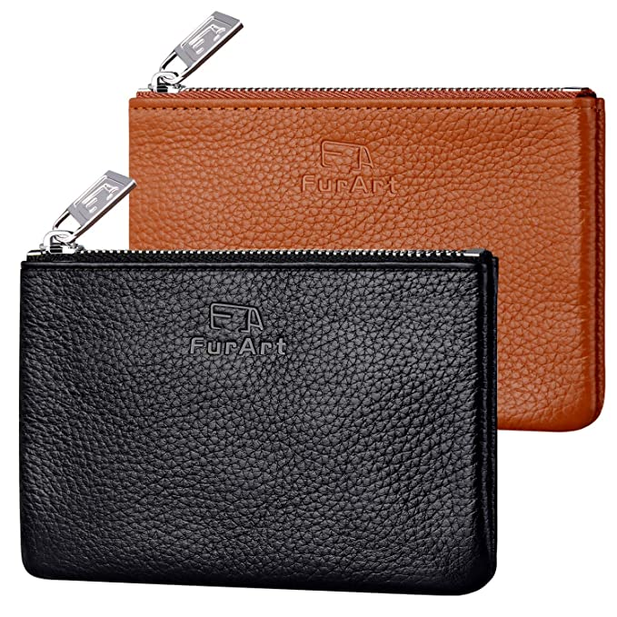 Amazon.com: FurArt Genuine Leather Coin Purse,Change Purse ...
