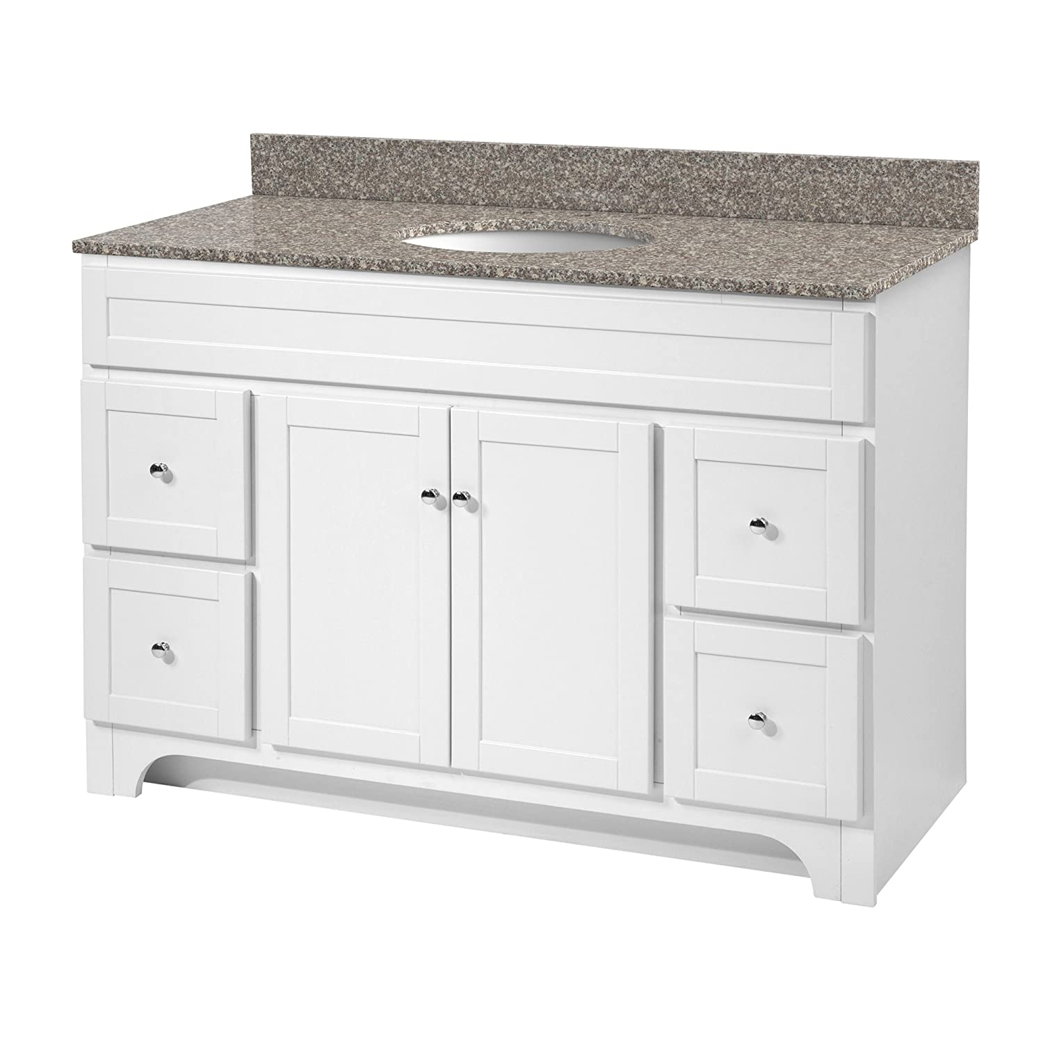 Foremost WRWA4821D Worthington 48-Inch White Bathroom Vanity Best