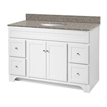 foremost wrwa4821d worthington 48inch white bathroom vanity