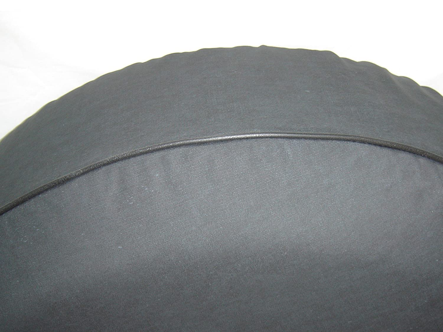 SpareCover BR-one-life-37 Brawny Series Black Denim 37 Tire Cover with One Life Design